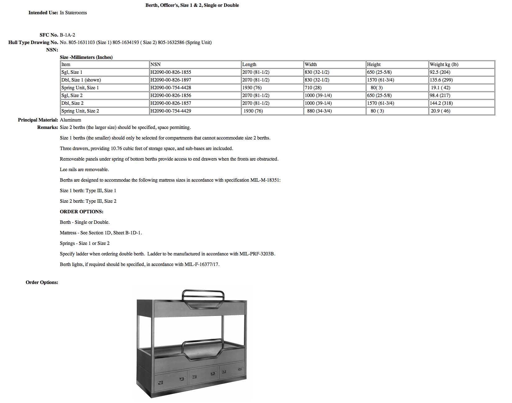 mattress sizes 3 4. OFFICER\u0027S, SIZE 1 \u0026 2, SINGLE OR DOUBLE \u003e B-1A-3 BERTH, TRANSOM, OFFICER, TYPE L36 L36-W31 B-1A-4 WITH FOLD-AWAY TABLE (SUBMARINES) Mattress Sizes 3 4